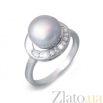 Кольцо серебряное с жемчугом Лазурный берег AQA--R00171PG