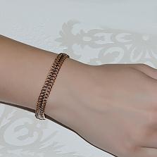 Золотой браслет с алмазной гранью Ирвин