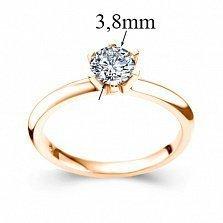 Кольцо в красном золоте Теплое чувство с бриллиантом 0,2ct