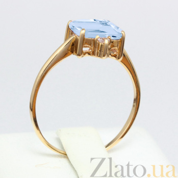 Кольцо из красного золота с топазом и фианитами Мадлен VLN--112-943-1