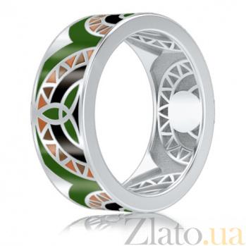 Мужское обручальное кольцо из белого золота Талисман: Жизни 3003/d