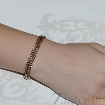 Золотой браслет с алмазной гранью Ирвин 07281/10б