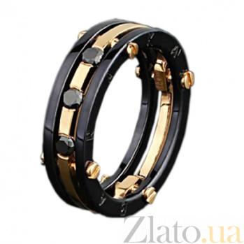 Золотое обручальное кольцо Нерушимый союз с бриллиантами BAR2015/ч брил