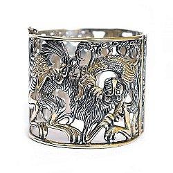 Серебряный браслет Мифы с позолотой
