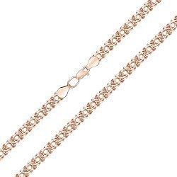 Цепочка из красного золота в плетении арабский бисмарк, 7мм 000001531
