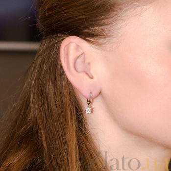 Серьги в белом золоте Линда с бриллиантами SVA--2190682202/Бриллиант