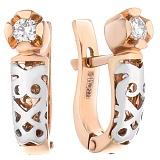 Золотые серьги Crazy Love с бриллиантами