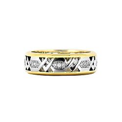 Золотое кольцо с бриллиантами Солнечная колесница
