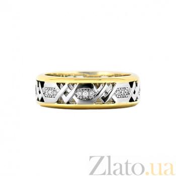 Золотое кольцо с бриллиантами Солнечная колесница 000029860