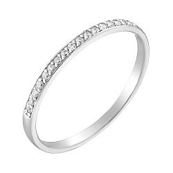 Кольцо в белом золоте Нинель с фианитами 000012260