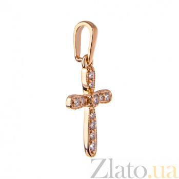 Декоративный крест с цирконием София SVA--3100845101/Фианит/Цирконий