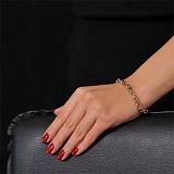 Золотой браслет в комбинированном цвете Антонио