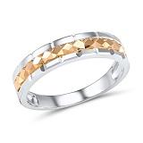 Обручальное кольцо Ясность из белого и красного золота