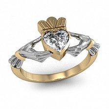 Золотое кладдахское кольцо Царство любви с бриллиантом