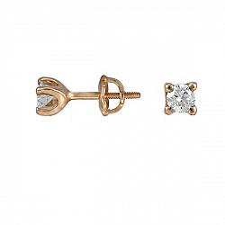 Серьги из красного золота Джейн с бриллиантами