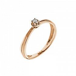 Кольцо в красном золоте Элен с бриллиантом