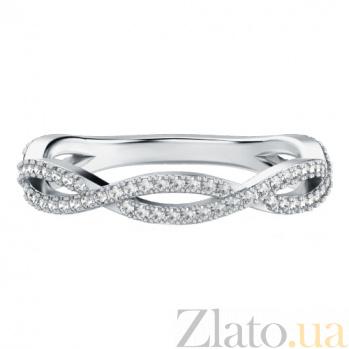 Обручальное кольцо из белого золота с бриллиантами Ты, я и море 633