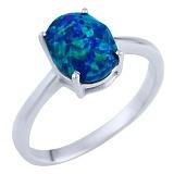 Серебряное кольцо Теодора с опалом