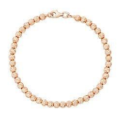 Браслет из красного золота из шариков с алмазной гранью 000123450