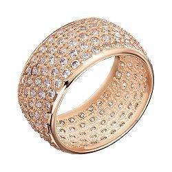 Кольцо из красного золота с фианитами 000000328
