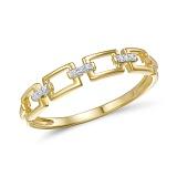 Кольцо из желтого золота Итака с бриллиантами