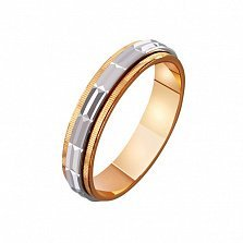 Золотое обручальное кольцо Аура любви