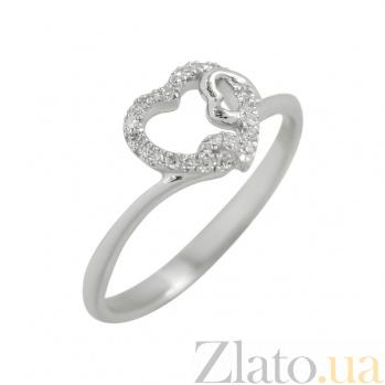Золотое кольцо с бриллиантами Признание в любви 000026851