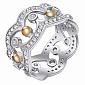 Серебряное кольцо-трансформер Корона с фианитами BGS--823к