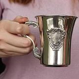 Серебряная чашка Маркиза с чернением, 200мл