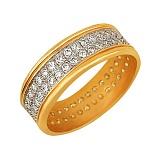 Кольцо из желтого золота Веста с цирконием