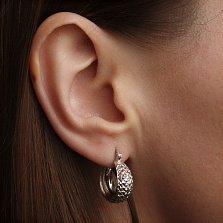 Серебряные серьги Альцеста с алмазными гранями, диам. 15мм