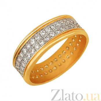 Кольцо из желтого золота Веста с цирконием VLT--ТТ179