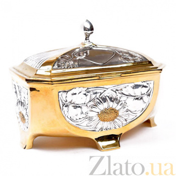 Серебряная шкатулка Ромашковый шик 1541