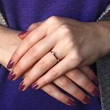 Золотое кольцо с бриллиантом Реджина