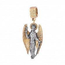 Серебряный подвес Ангел Хранитель с позолотой