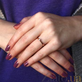 Золотое кольцо с бриллиантом Реджина KBL--К1970/крас/брил