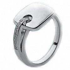 Серебряное кольцо с бриллиантами Милос
