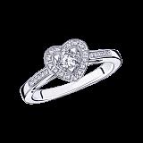 Бриллиантовое кольцо в белом золоте Sex Love Touch