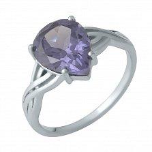 Серебряное кольцо Смиляна с узорной шинкой и александритом
