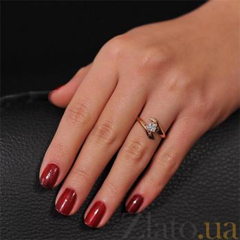 Золотое кольцо Луиза с фианитом EDM--КД0100