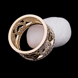 Золотое кольцо Милагро с фианитами в стиле Тиффани