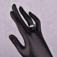 Серебряное кольцо Джози с сапфиром и фианитами