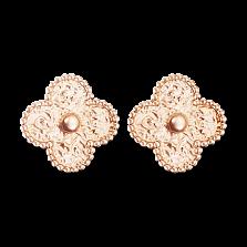 Серьги из розового золота Alhambra