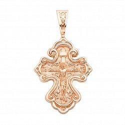 Крестик из красного золота 000136435