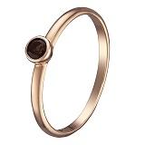 Кольцо в красном золоте Яна с раухтопазом