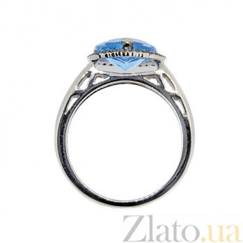 Кольцо в белом золоте с топазом и бриллиантами Сердце ZMX--RT-6608w_K