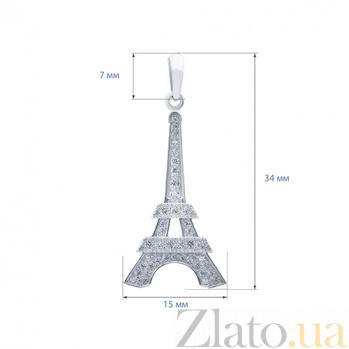 Кулон серебряный Эйфелева башня  AQA--3889