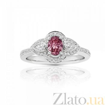 Кольцо Argile из белого золота с розовым сапфиром и бриллиантами R-cjAr-W-1s-42dd