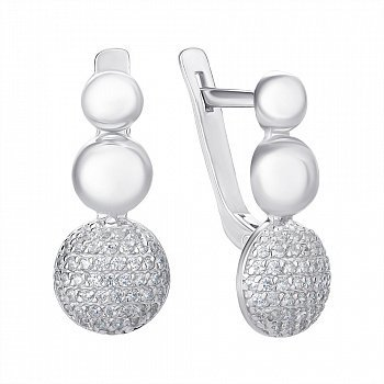 Серьги из серебра с кубическим цирконием 000144850