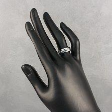 Золотое кольцо Монтана в белом цвете с бриллиантами